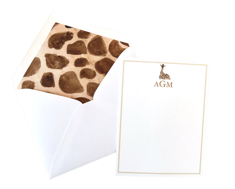 Custom Baby Animal Stationery (set of 25)