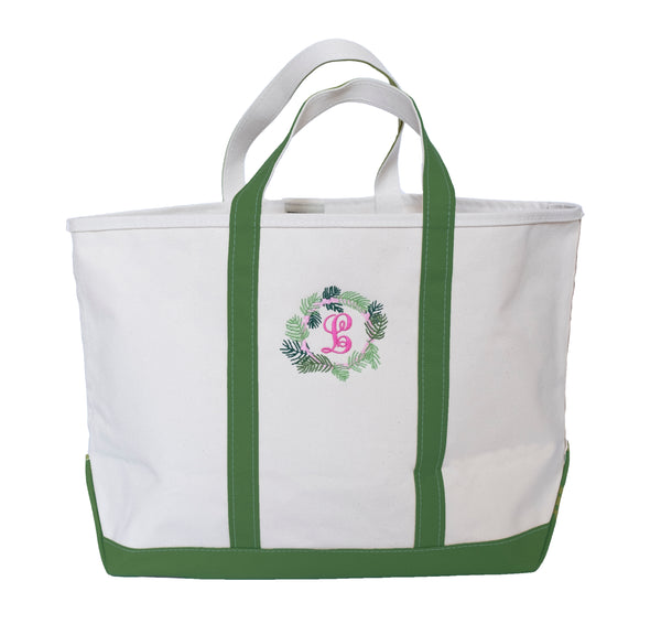 Monogrammed Boat & Tote