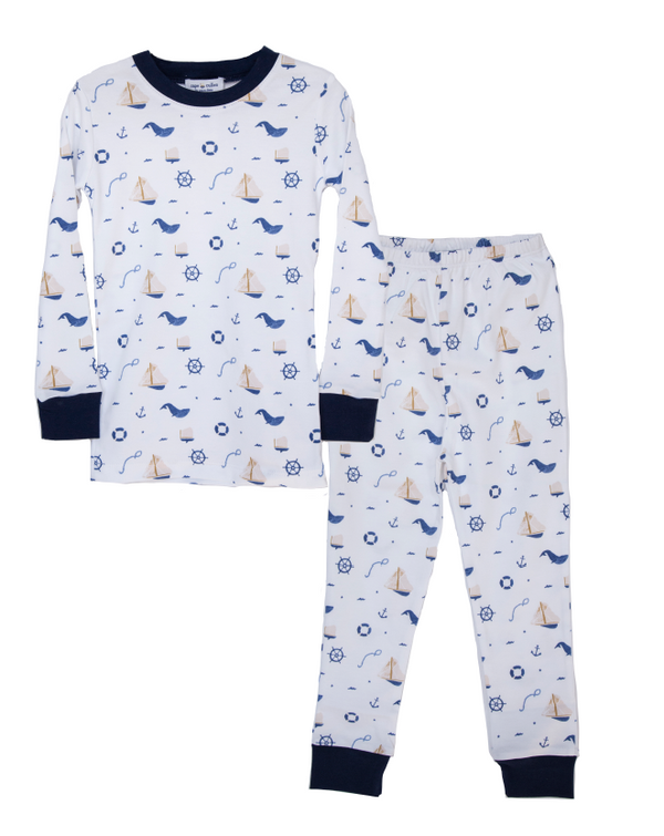 Nautical Two Piece Pajama Set