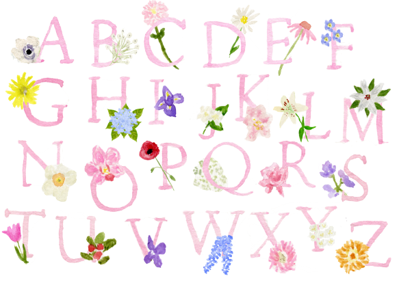 Floral Alphabet Ribbon