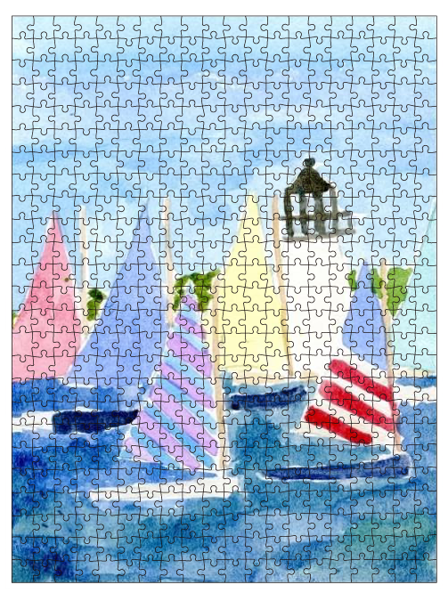 Rainbow Fleet Sailboat Puzzle