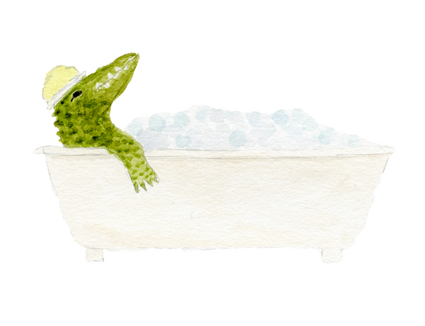 Crocodile Bubble Bath Print