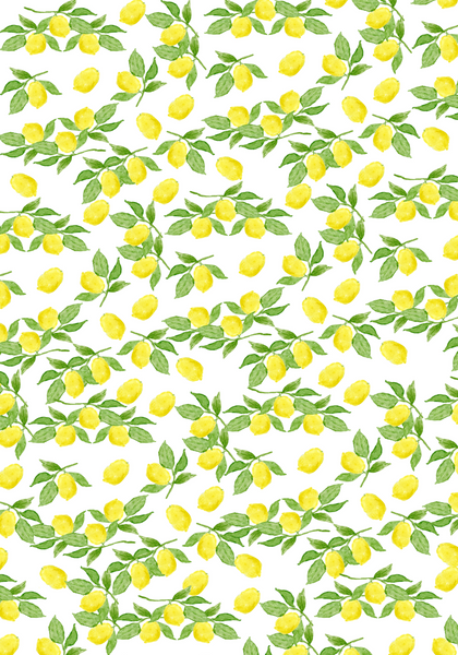 Lemon Gift Wrap (set of 10 sheets)