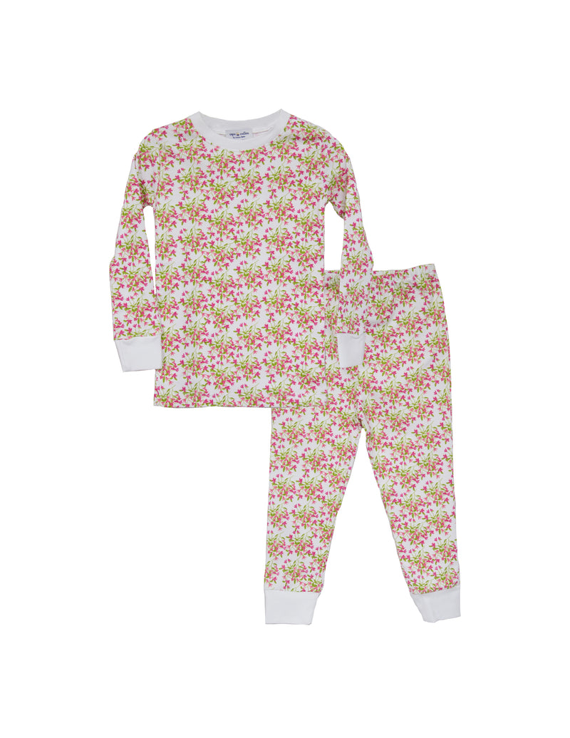 Bougainvillea Two Piece Pima Pajama Set