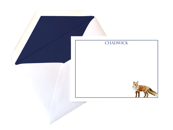 Custom Fox stationery (set of 25)