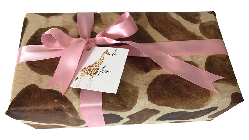 Giraffe gift wrap (set of 10)