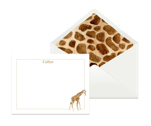 Baby animal custom stationery (set of 25)