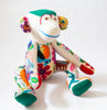 Large Hand Stitched Stuffed Monkey