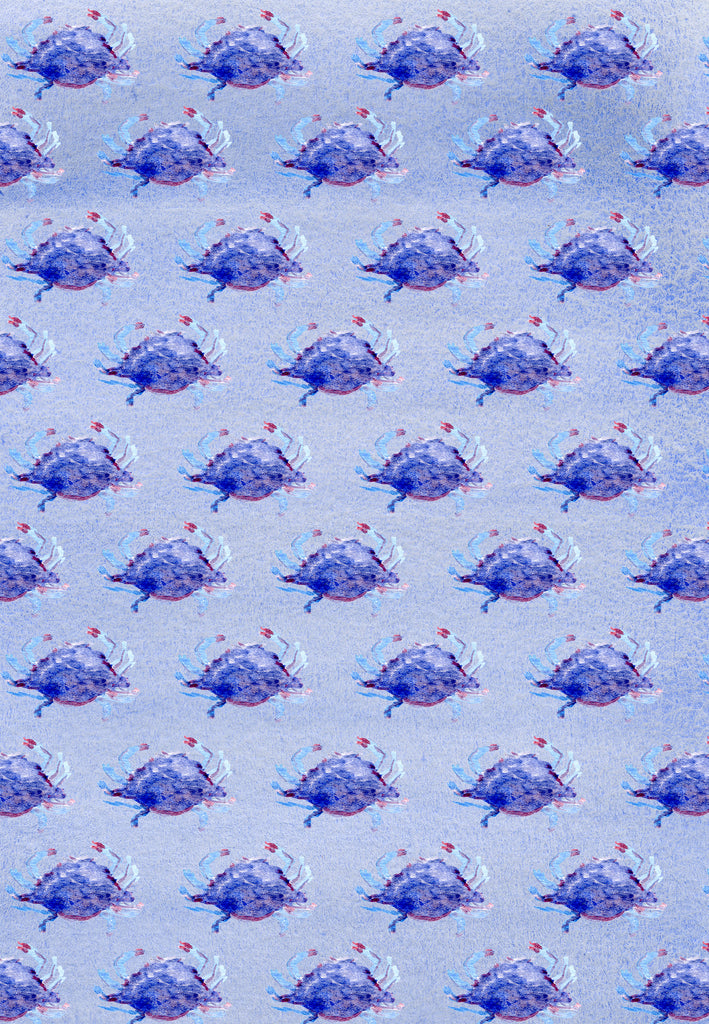 Crab gift wrap set of 10
