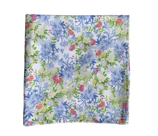 Blue floral chintz napkins (set of 4)