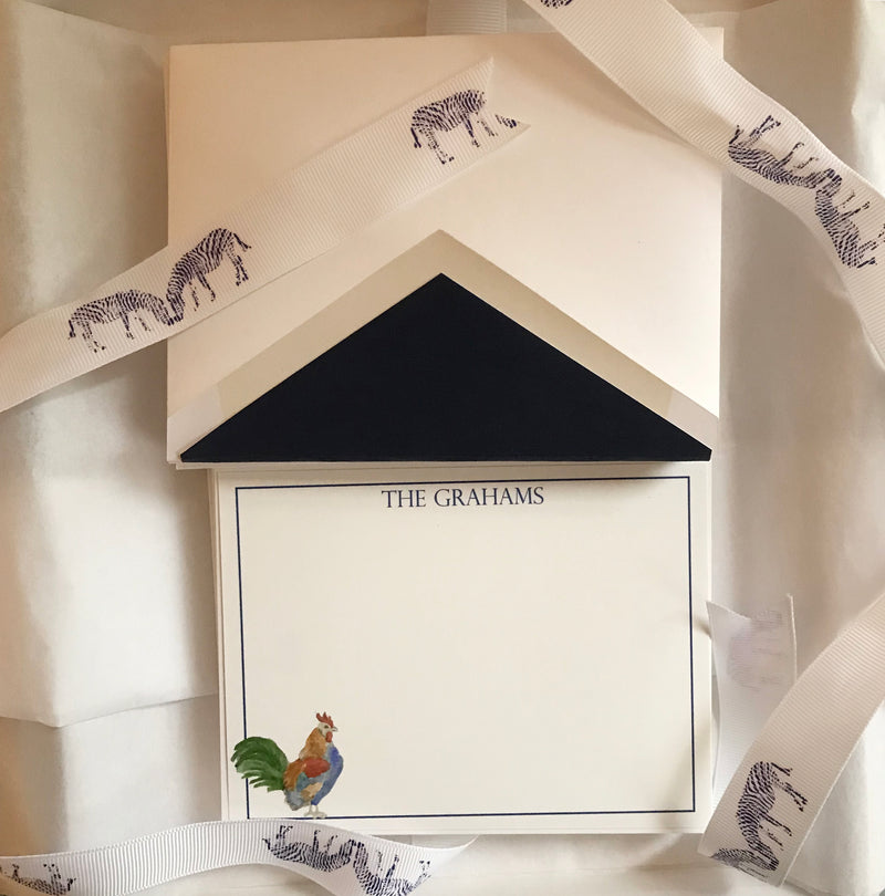 Custom rooster stationery (set of 25)