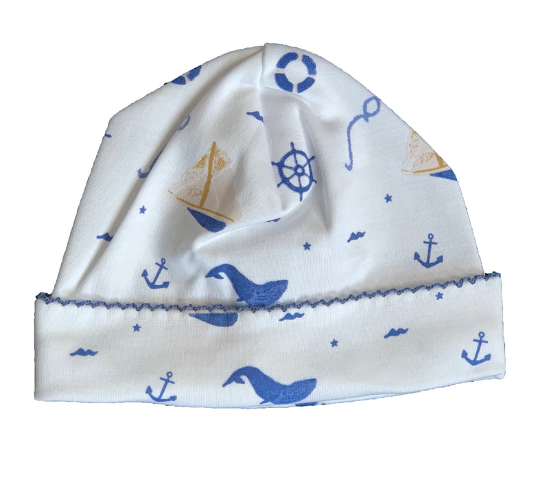 Nautical Print Pima Hat