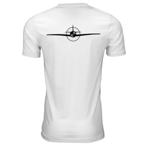 Aviation White Tee