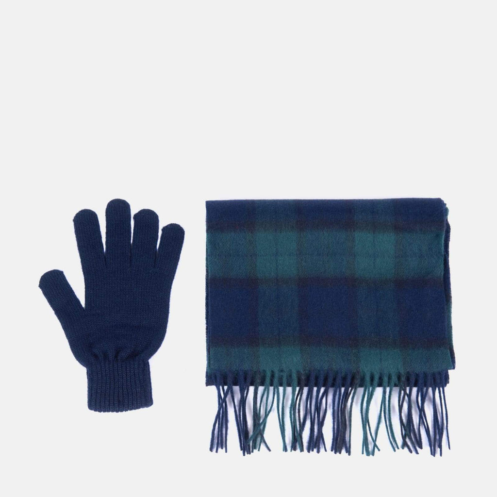 Barbour Accessories One Size / Black Watch Tartan Barbour Scarf & Glove Gift Set Black Watch Tartan