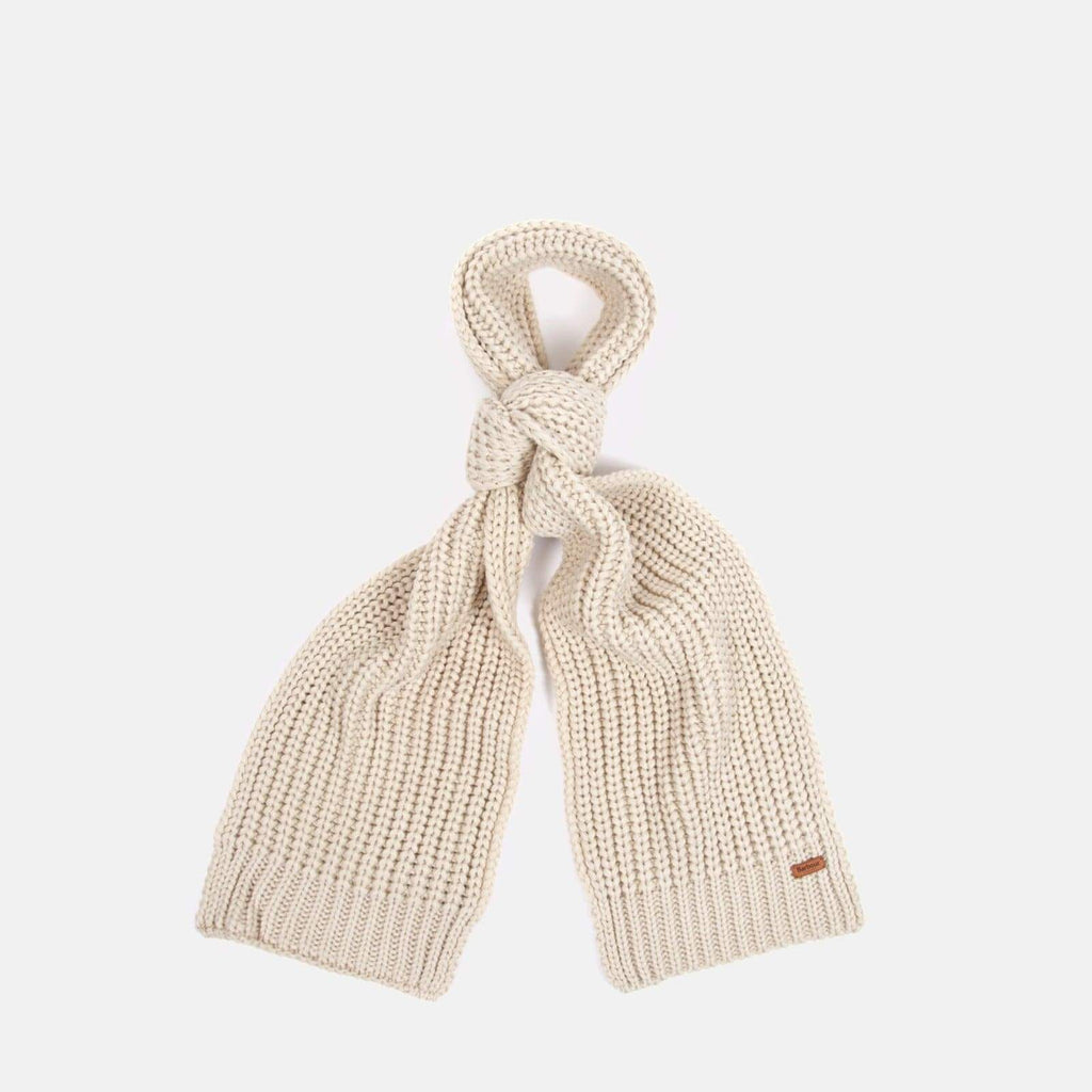 Barbour Accessories One Size / Grey Saltburn Scarf & Beanie Set Pearl