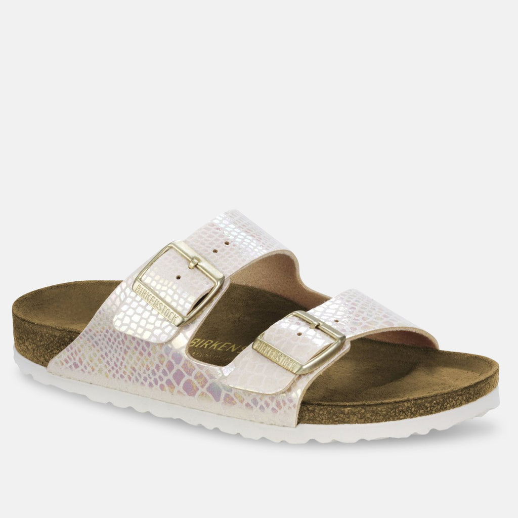 Birkenstock Footwear UK 3.5 / EU 36 / US 5-5.5 / Shiny Snake Cream Arizona Birko-Flor - Shiny Snake Cream (57623) NARROW WIDTH