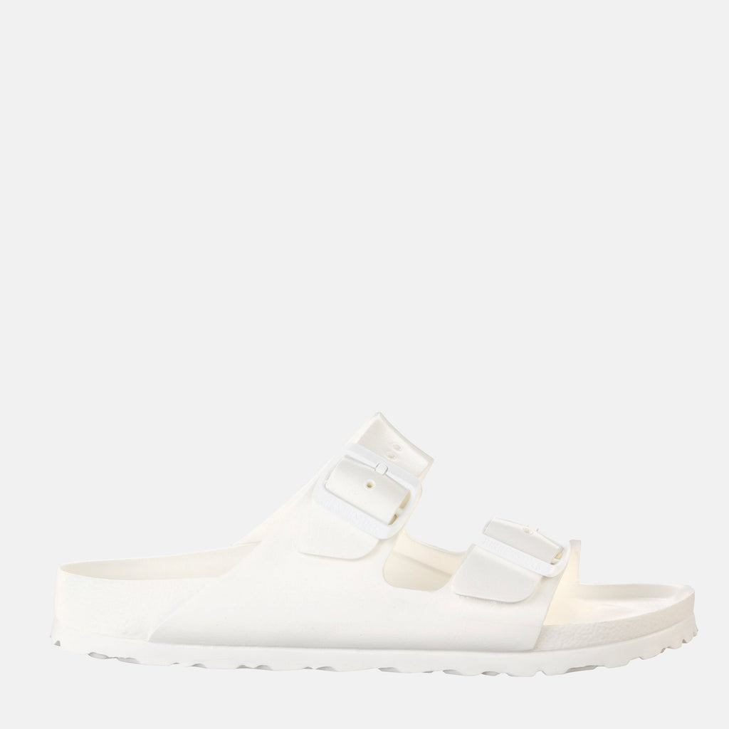 Birkenstock Footwear UK 3.5 / EU 36/ US 5-5.5 / White Arizona EVA Narrow Fit White 129443 - Birkenstock Ladies Waterproof White Flat Summer Sandals