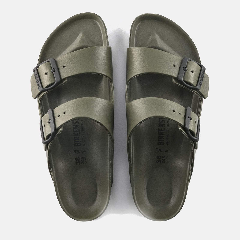 Birkenstock Footwear UK 7.5 / EU 41/ US 8-8.5 / Brown Arizona EVA Regular Fit Khaki 129491 -  Birkenstock Ladies Waterproof Khaki/Brown Flat Summer Sandals