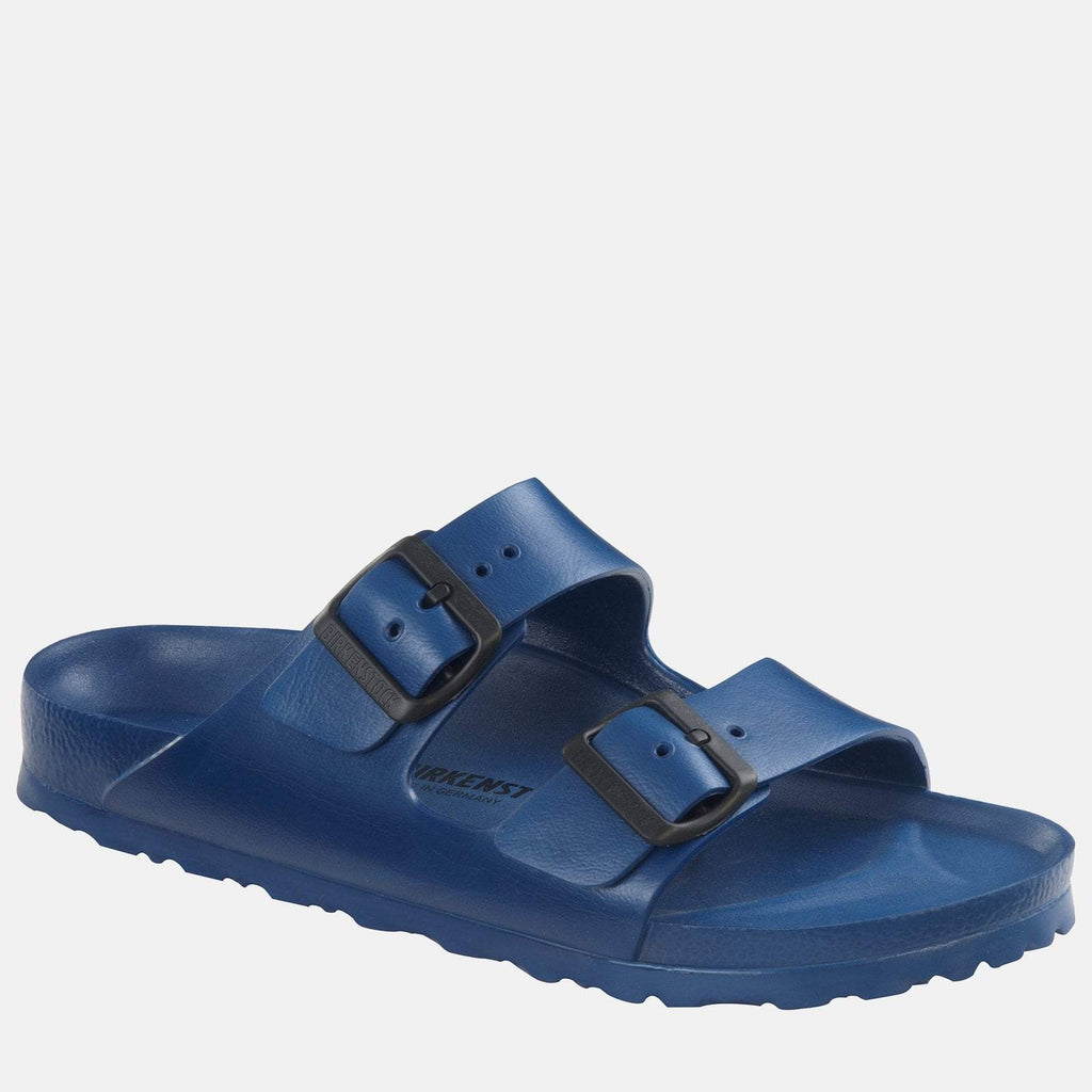 Birkenstock Footwear UK 7.5 / EU 41/ US 8-8.5 / Blue Arizona EVA Regular Fit Navy 129431 - Birkenstock Men's Waterproof Navy Blue Flat Summer Sandals