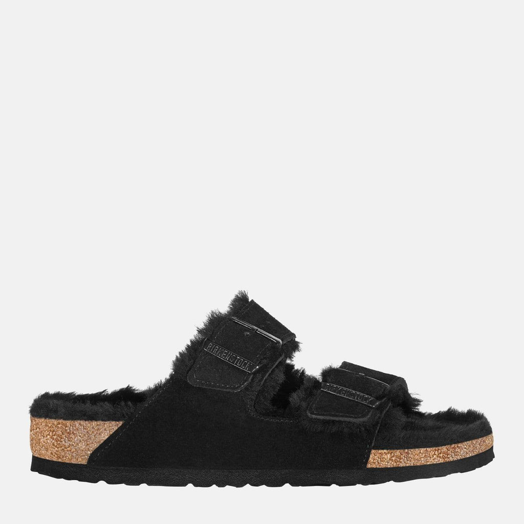 Birkenstock Footwear Arizona Fur Narrow Fit Black 752663