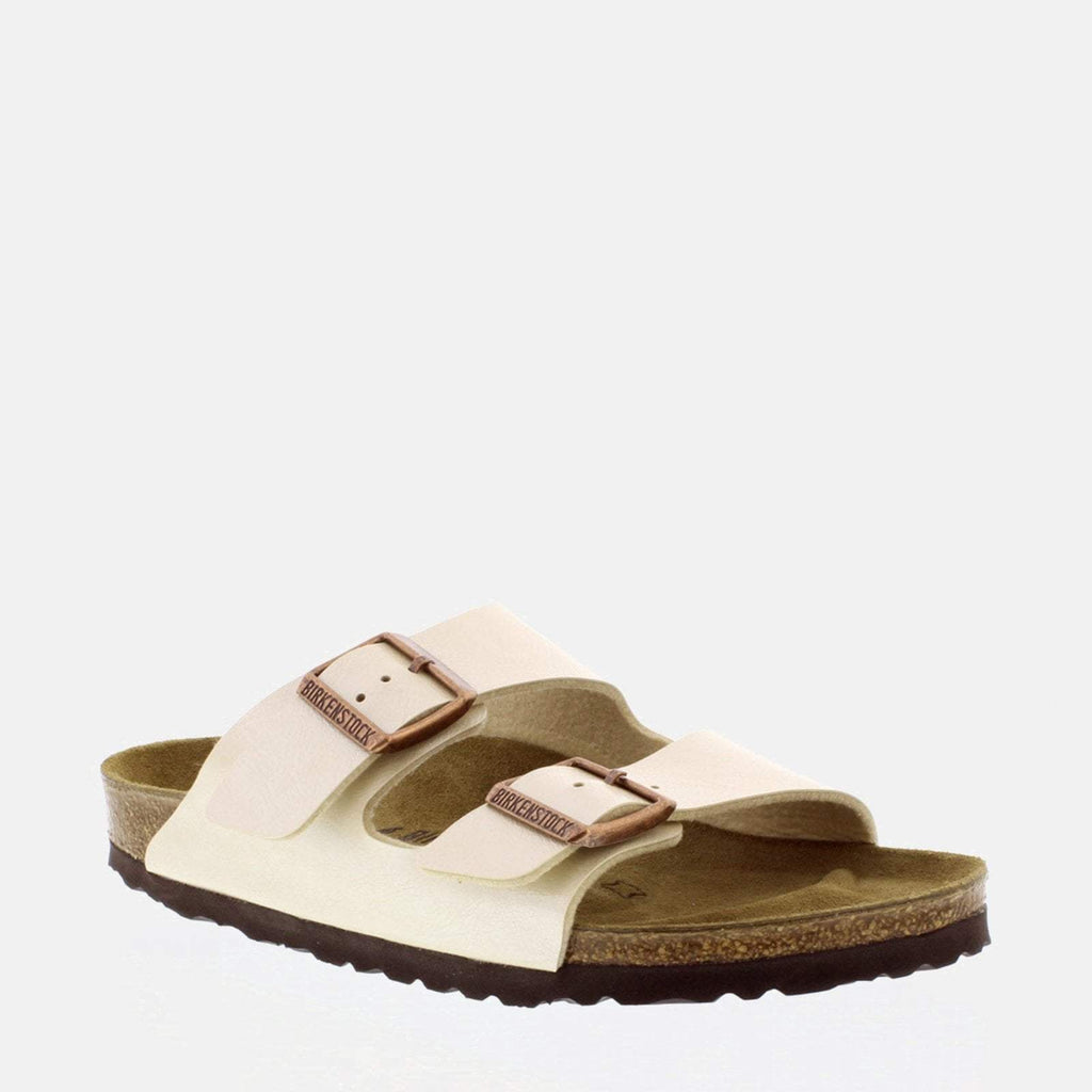 Birkenstock Footwear UK 3.5 / EU 36/ US 5-5.5 / White Arizona Narrow Fit Graceful Pearl White 1009921 -Birkenstock Ladies White Flat Summer Sandals