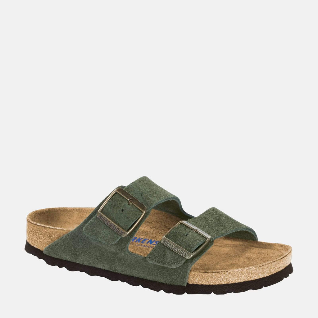 Birkenstock Footwear Arizona Narrow Fit Green Suede 1014201