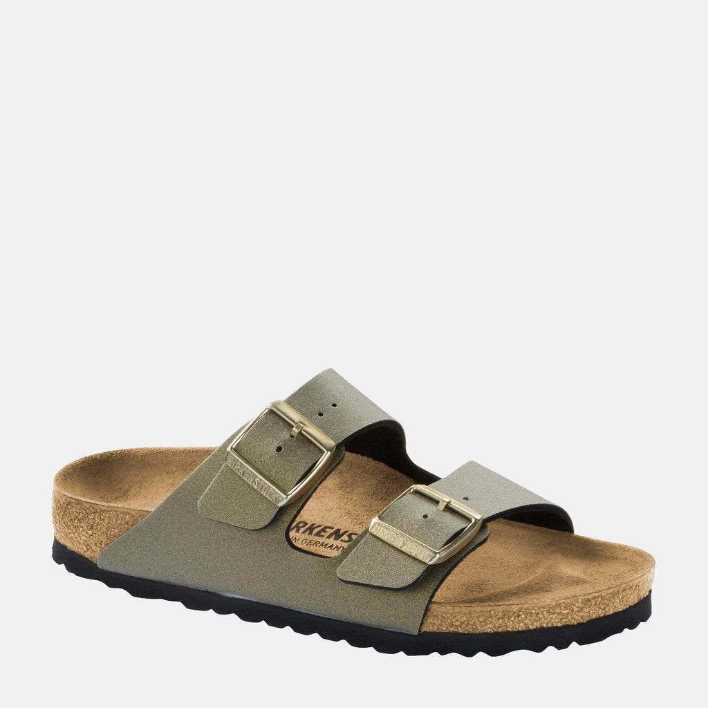 Birkenstock Footwear Arizona Narrow Fit Icy Metallic Stone Gold 1014281
