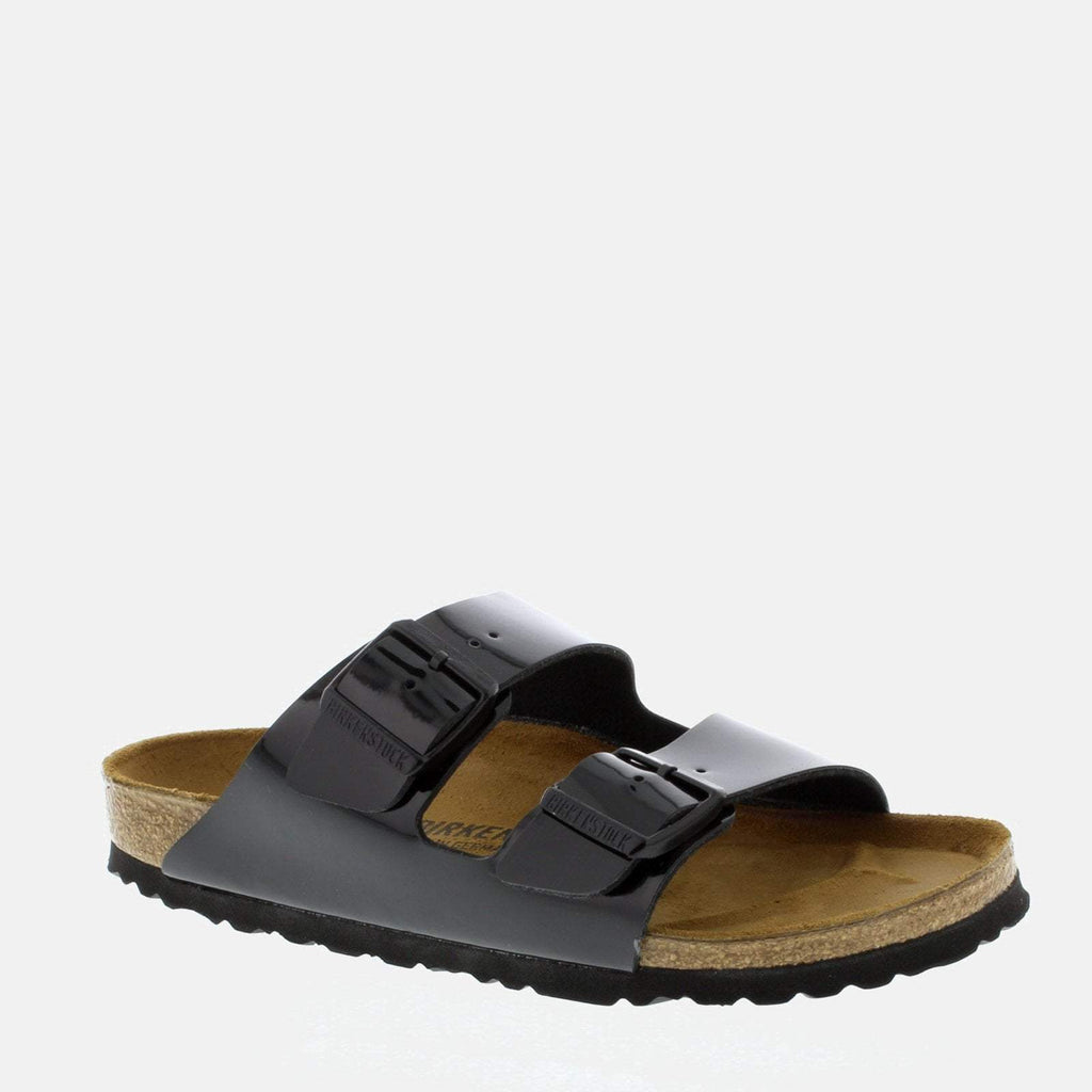 Birkenstock Footwear UK 4.5 / EU 37/ US 6-6.5 / Black Arizona Narrow Fit Patent Black  1005292 - Birkenstock Ladies Black Flat Summer  Sandals