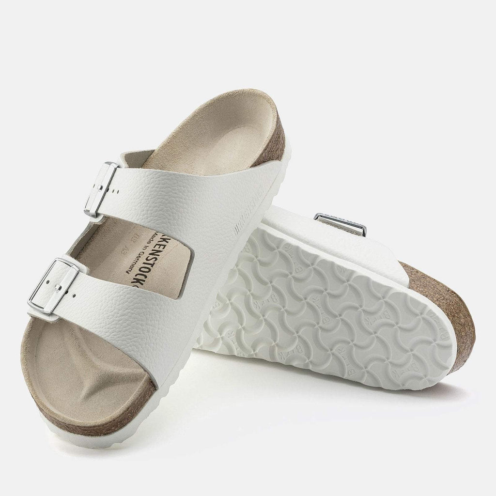 Birkenstock Footwear UK 5 / EU 38 / US 7-7.5 / White Arizona Narrow Fit - White Leather 051133
