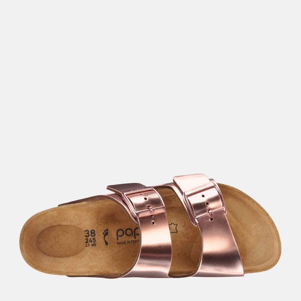 Birkenstock Footwear Arizona Platform Narrow Fit Metallic Copper 1013570