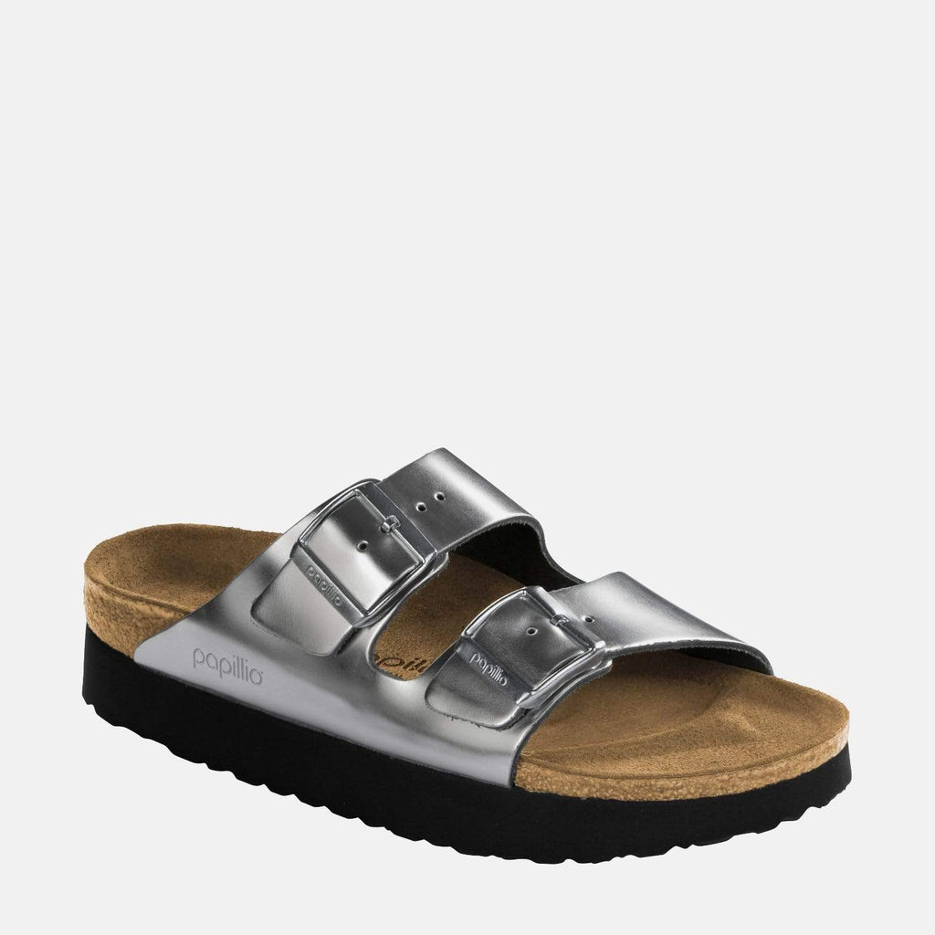 Birkenstock Footwear Arizona Platform Narrow Fit Silver 1013569