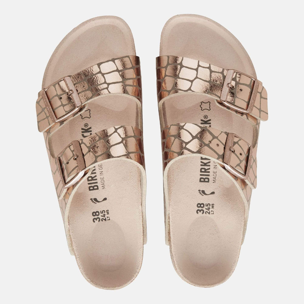 Birkenstock Footwear Arizona Regular Fit Gator Gleam Copper 1016046