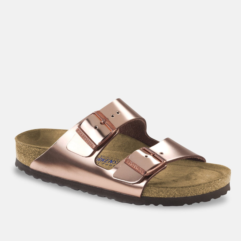 Birkenstock Footwear UK 3.5 / EU 36 / US 5-5.5 / Metallic Copper Arizona Soft Footbed Natural Leather - Metallic Copper (752723) NARROW WIDTH
