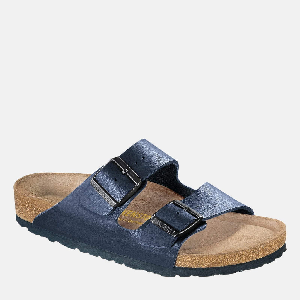 Birkenstock Footwear UK 3.5 / EU 36/ US Women's 5-5.5 / Blue Arizona Soft Footbed Regular Fit Blue 051061 - Birkenstock Ladies Blue Flat Summer Sandals