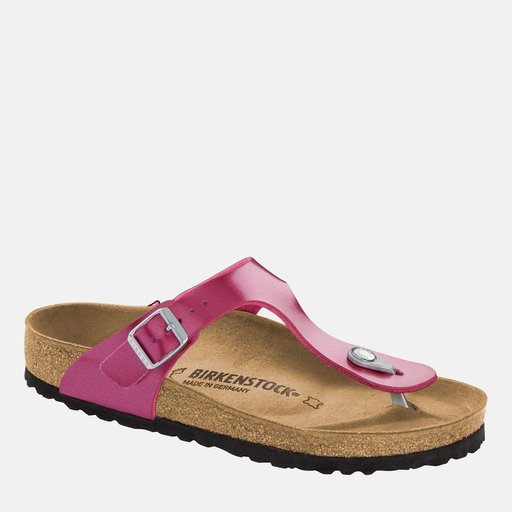 Birkenstock Footwear UK 3.5 / EU 36/ US 5-5.5 / Purple Gizeh Regular Fit Electric Metallic Magenta 1012979 -  Birkenstock Ladies Purple Metallic Toe Post Summer Sandals