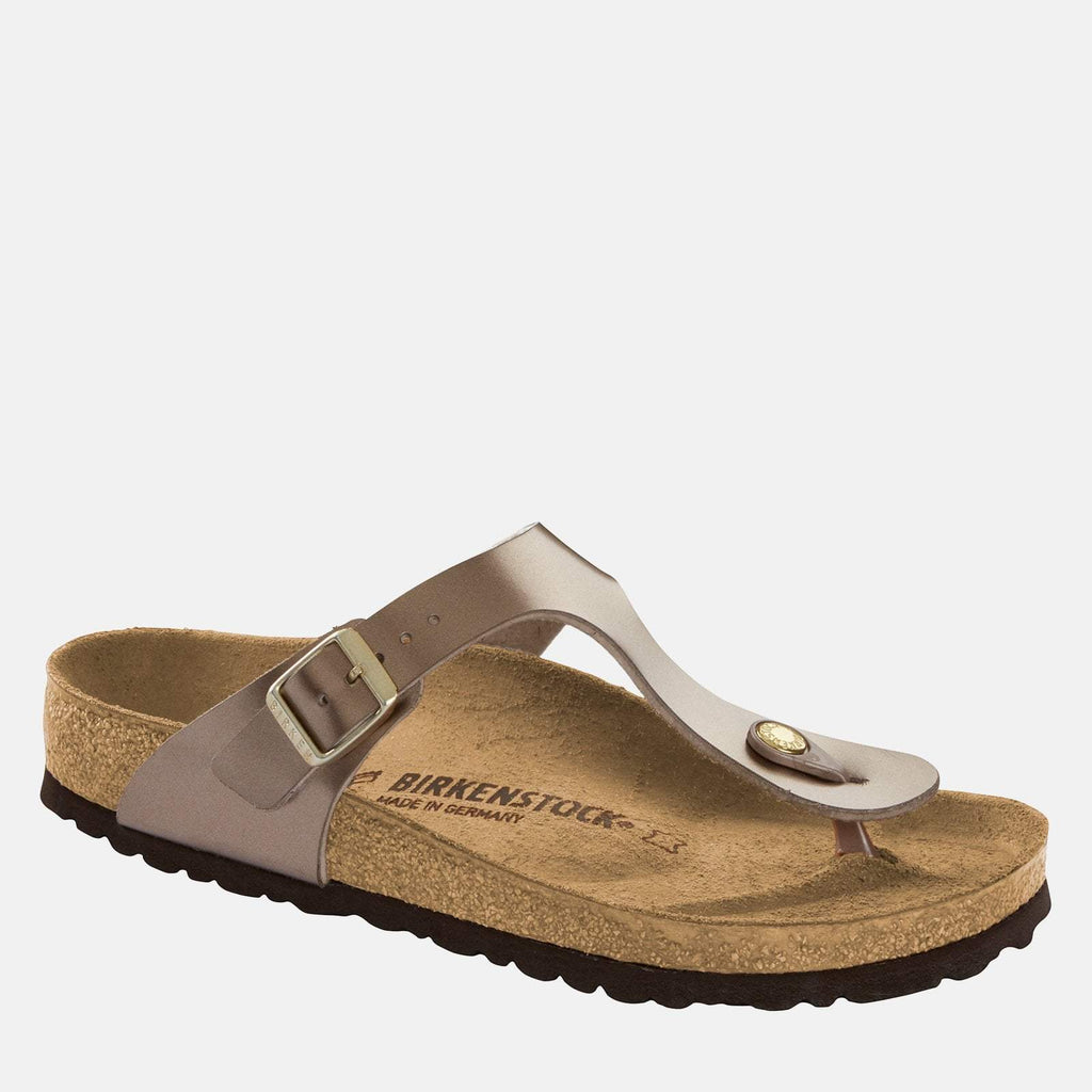 Birkenstock Footwear UK 3.5 / EU 36/ US 5-5.5 / Taupe Gizeh Regular Fit Electric Metallic Taupe 1012983 -  Birkenstock Ladies Purple Metallic Taupe Toe Post Summer Sandals