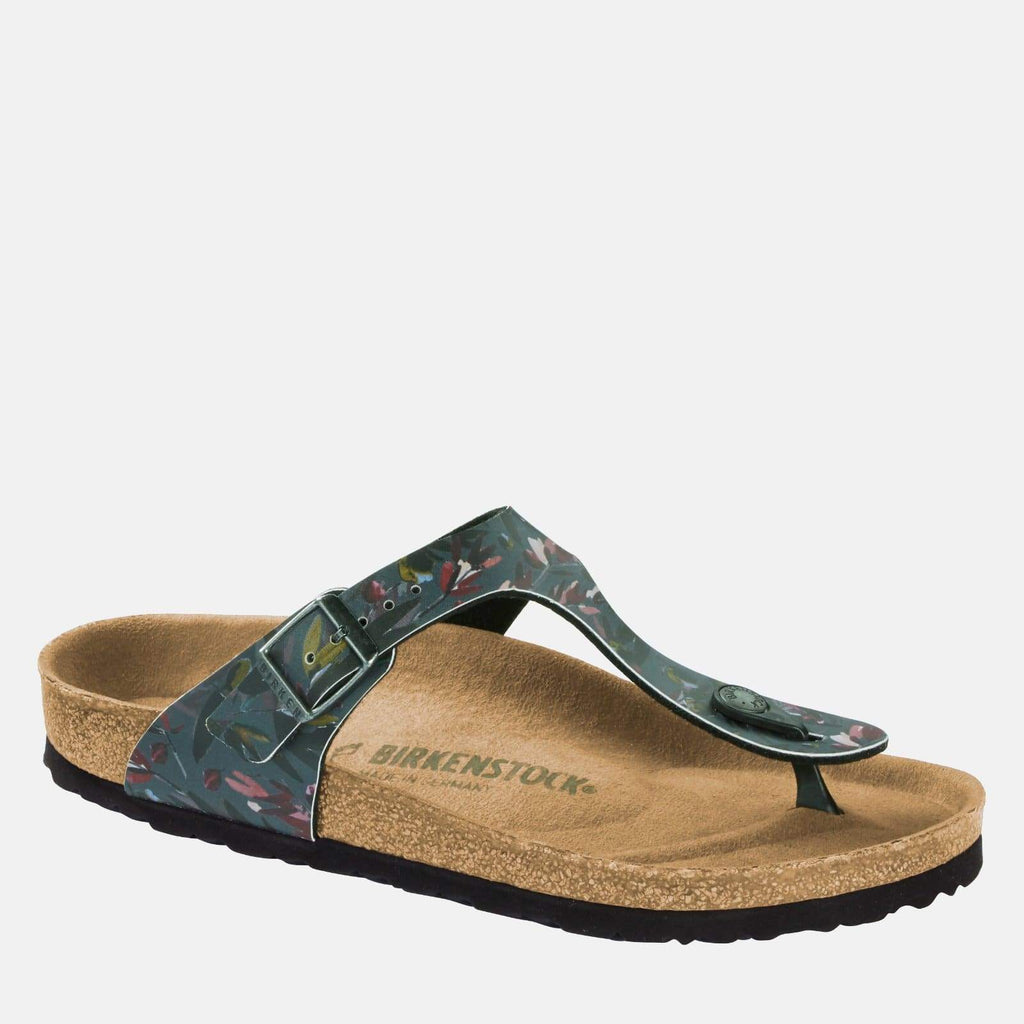 Birkenstock Footwear Gizeh Regular Fit Floral Fades Anthracite 1016725