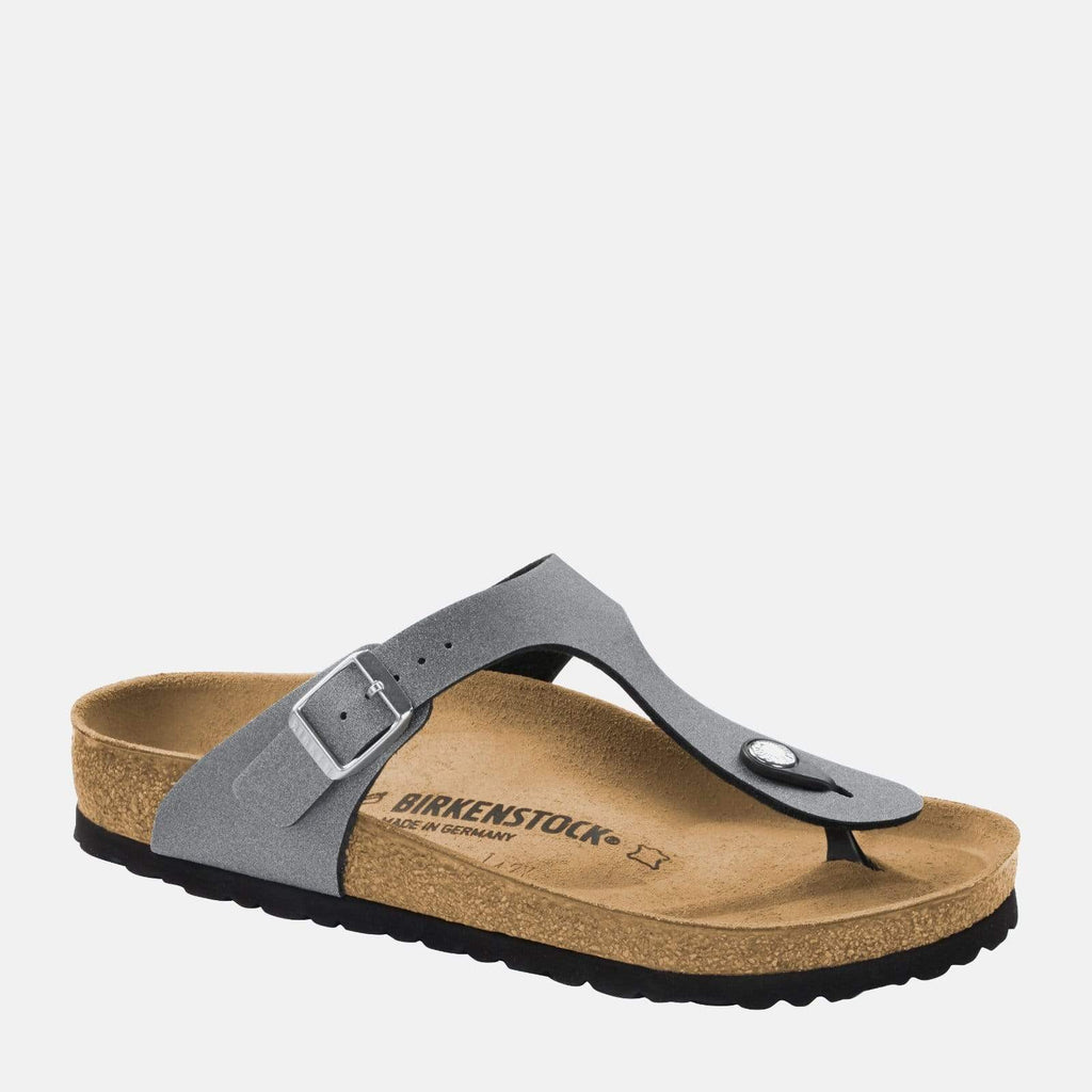 Birkenstock Footwear Gizeh Regular Fit Icy Metallic Anthracite 1014288