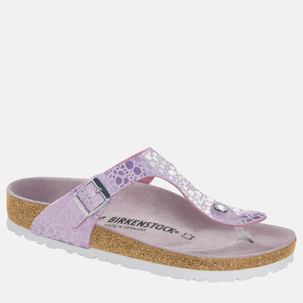 Birkenstock Footwear UK 3.5 / EU 36/ US 5-5.5 / Lilac Gizeh Regular Fit Metallic Stones Lilac 1012921 - Birkenstock Ladies Lilac Metallic Toe Post Summer Sandals