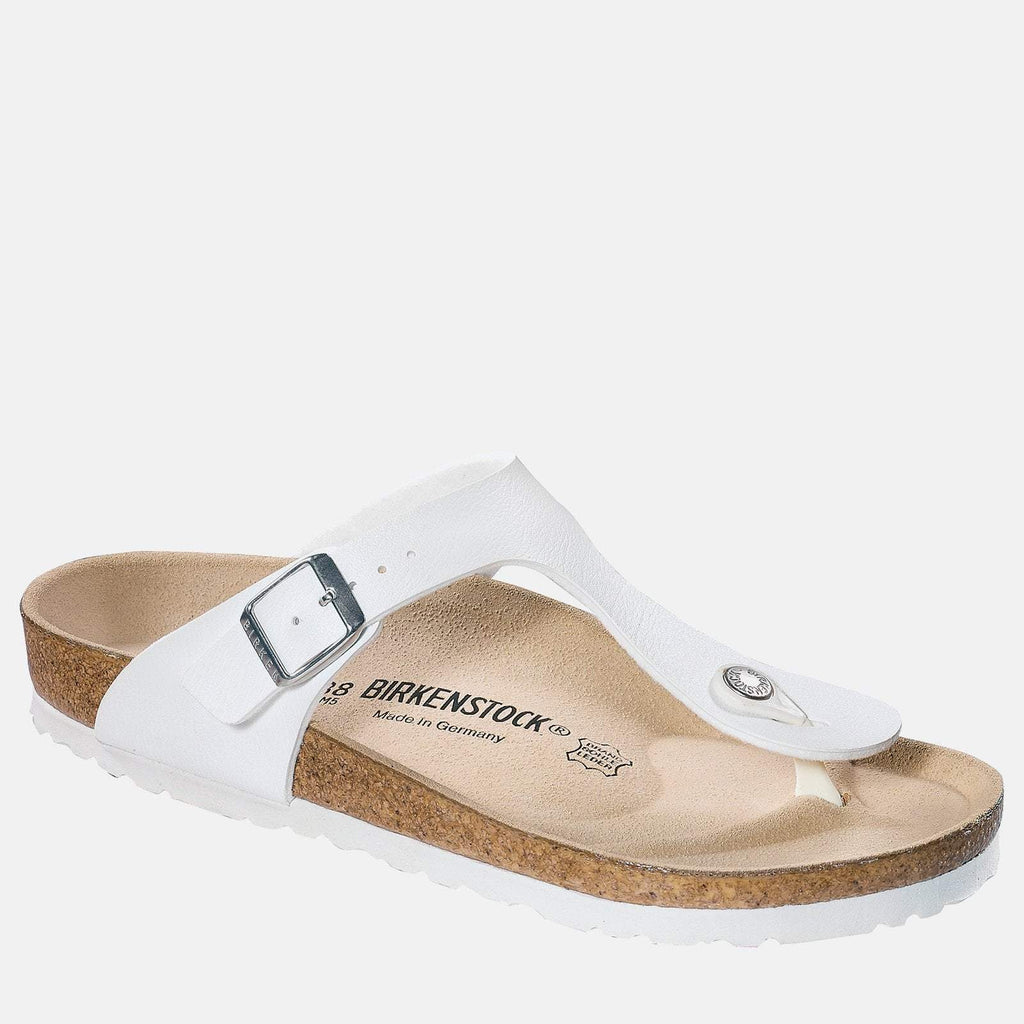 Birkenstock Footwear UK 3.5 / EU 36/ US 5-5.5 / White Gizeh Regular Fit White 043731 - Birkenstock Ladies White Toe Post Summer Sandals