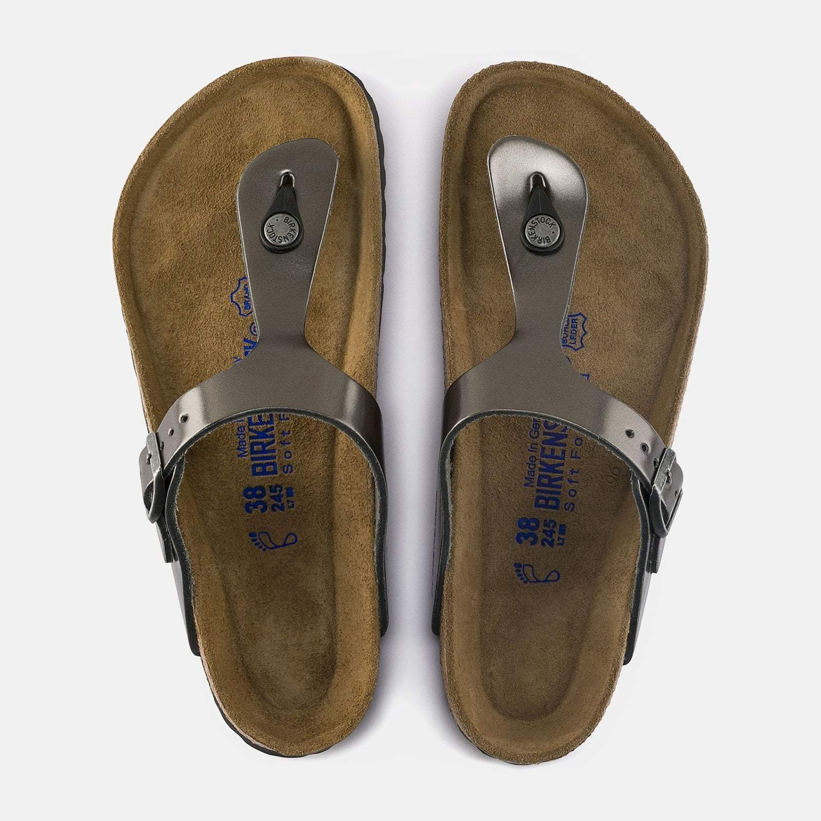 792435e8222e16 Birkenstock Footwear UK 7   EU 40   US 9-9.5   Metallic Anthracite Gizeh.  Birkenstock Footwear UK 7   EU 40   US 9-9.5   Metallic Anthracite Gizeh