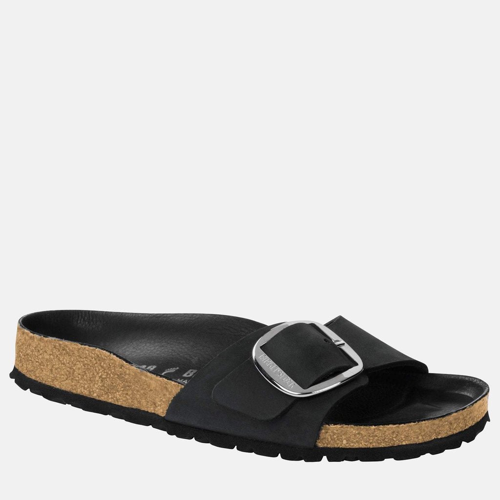 Birkenstock Footwear UK 3.5 / EU 36/ US 5-5.5 / Black Madrid Big Buckle Narrow Fit Black 1006523 - Birkenstock Ladies Black Slip-On Summer Sandals