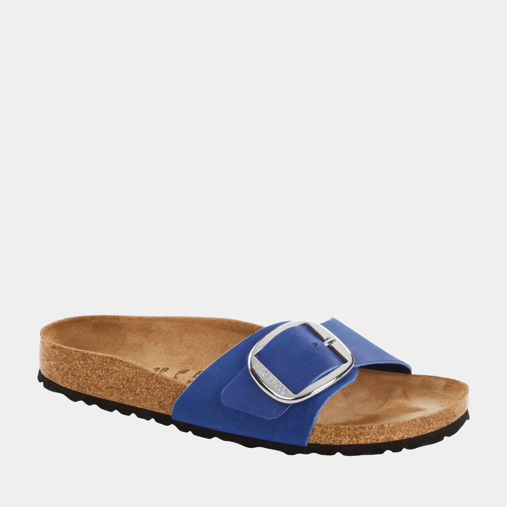 Birkenstock Footwear Madrid Big Buckle NU Azure Blue 1017955 narrow fit