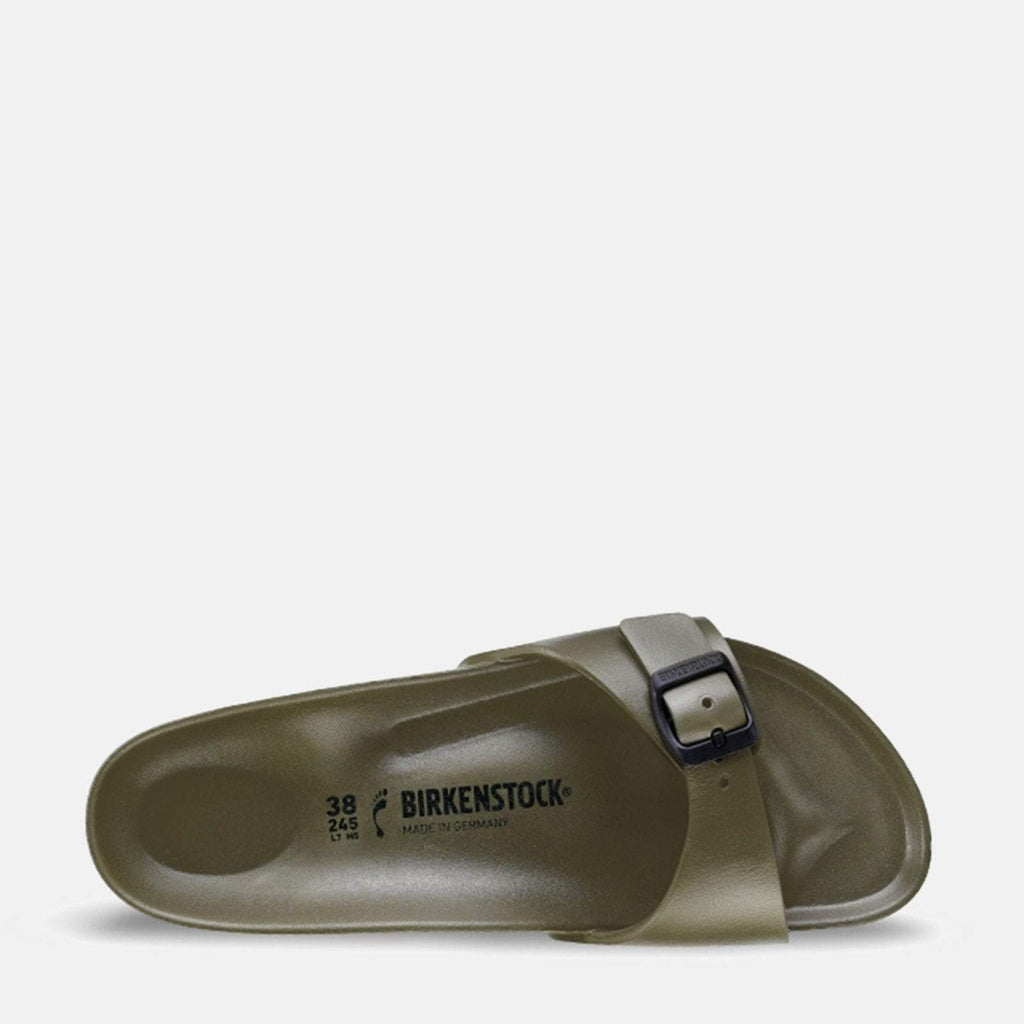 Birkenstock Footwear UK 3.5 / EU 36/ US 5-5.5 / Khaki Madrid EVA Narrow Fit Khaki 128253 -  Birkenstock Madrid Khaki/Brown Slip-On Summer Sandals