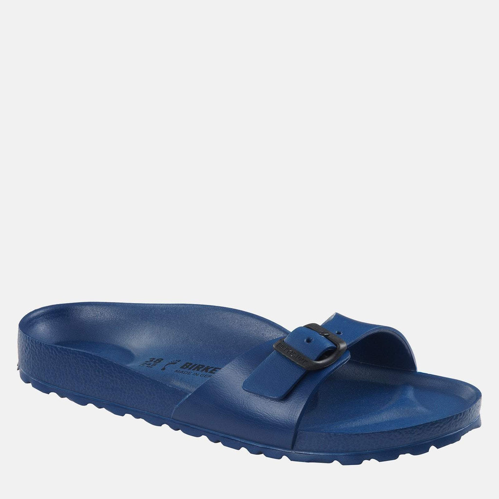 Birkenstock Footwear UK 3.5 / EU 36/ US 5-5.5 / Blue Madrid EVA Narrow Fit Navy 128173 -  Birkenstock Madrid Ladies Blue Slip-On Summer Sandals