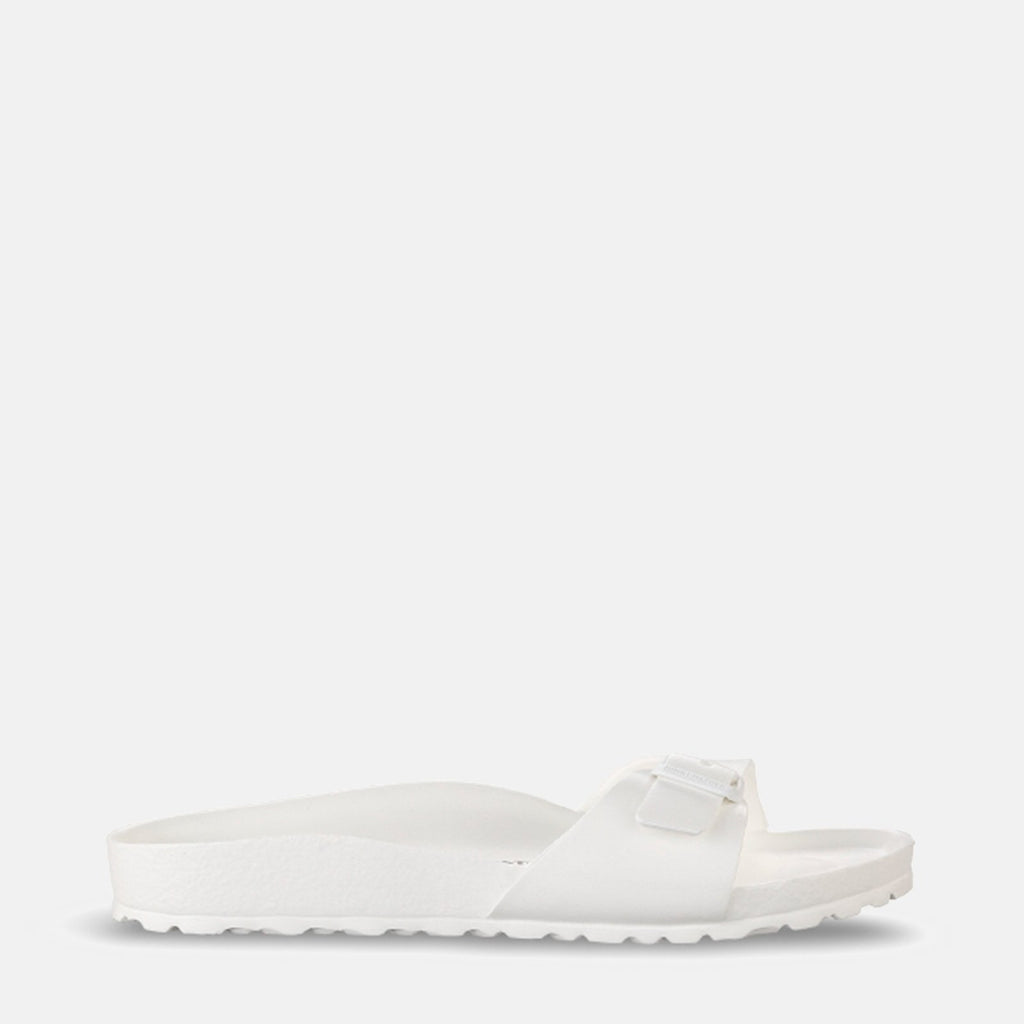 Birkenstock Footwear UK 3.5 / EU 36/ US 5-5.5 / White Madrid EVA Narrow Fit White 128183 - Birkenstock Madrid White Slip-On Summer Sandals