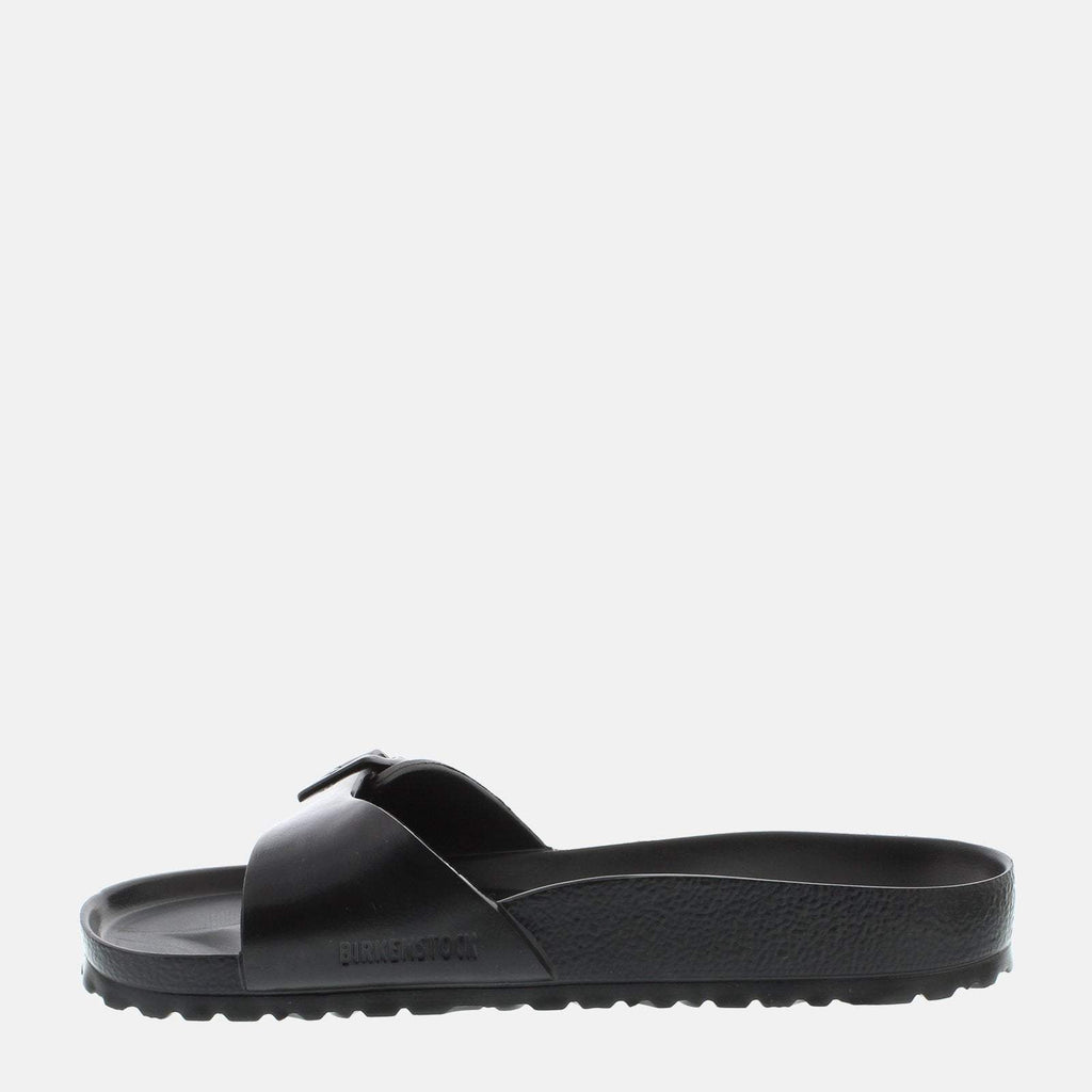 Birkenstock Footwear UK 7.5 / EU 41/ US 8-8.5 / Black Madrid EVA Regular Fit Black 128161 -  Birkenstock Madrid Men's Black Slip-On Summer Sandals