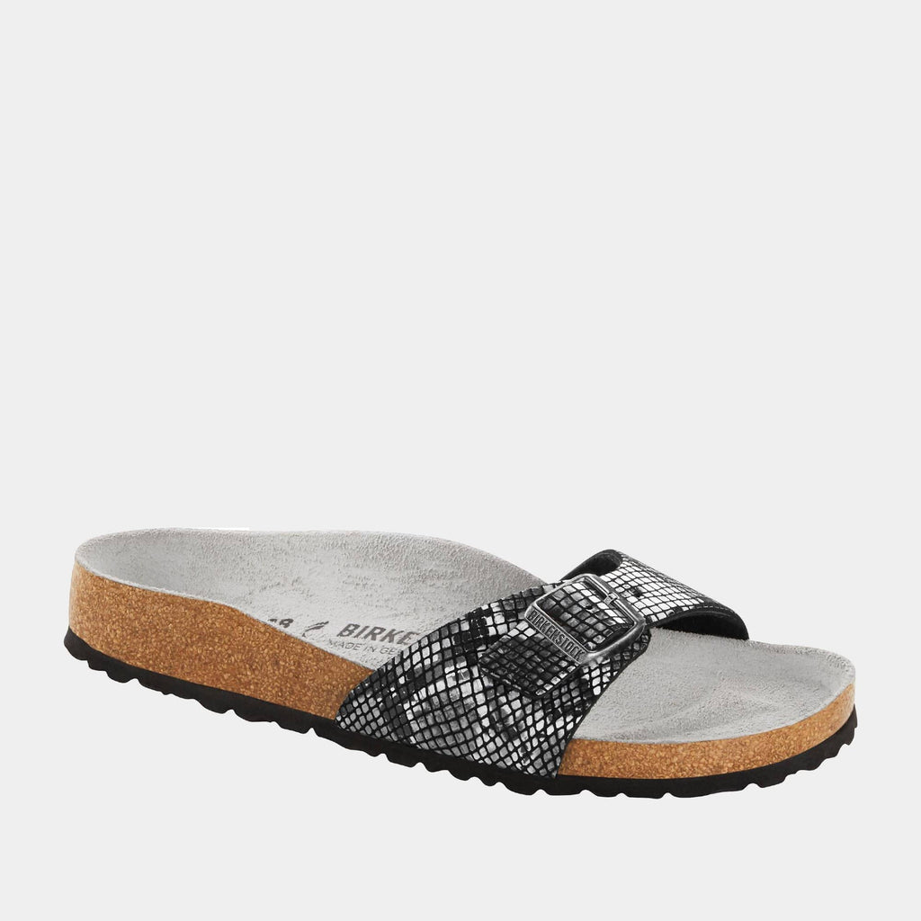 Birkenstock Footwear Madrid MF Python Black 1016897 narrow fit