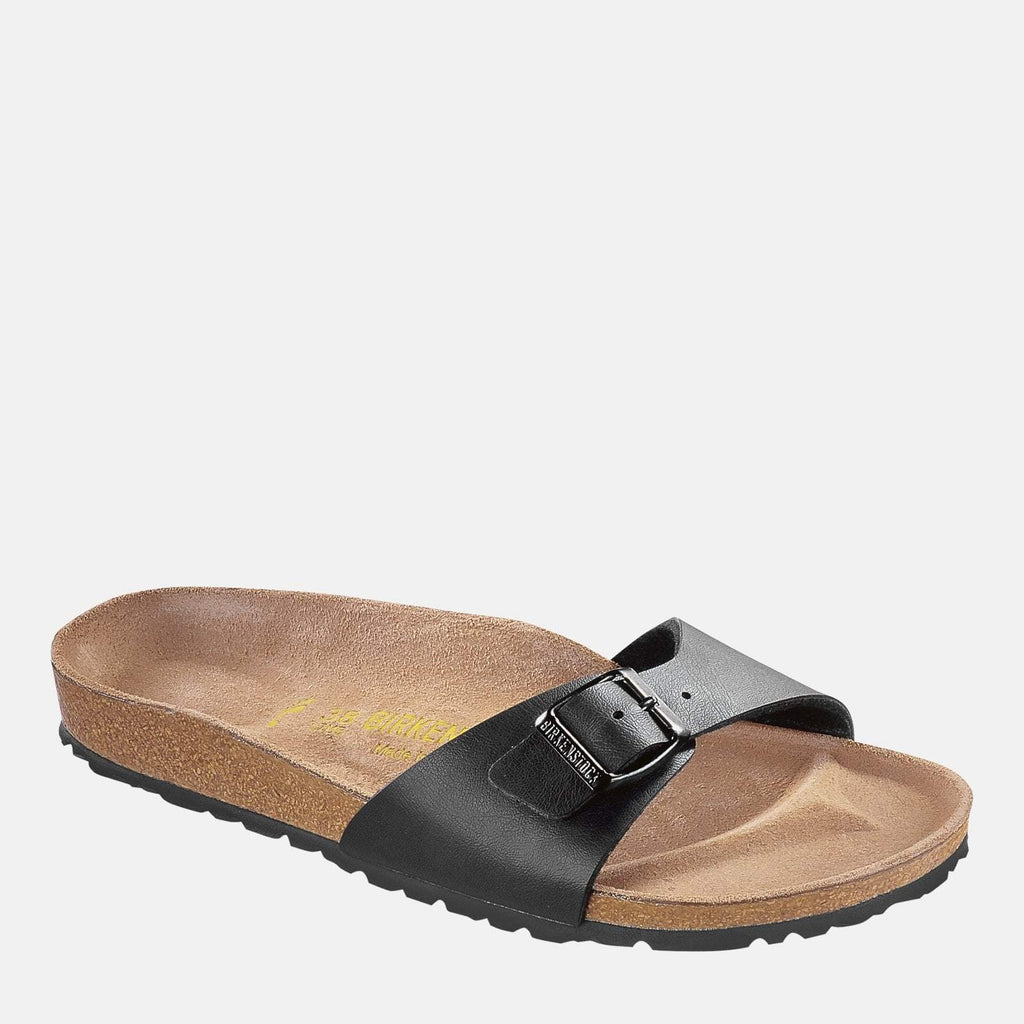 Birkenstock Footwear UK 3.5 / EU 36/ US 5-5.5 / Black Madrid Regular Fit Black 040791 - Birkenstock Ladies Black Slip-On Summer Sandals