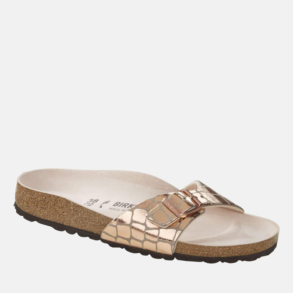 Birkenstock Footwear Madrid Regular Fit Gator Gleam Copper 1016056